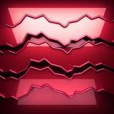 Plaque de métal rouge avec une certaine réflexion Image libre de droits