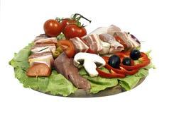 plaque de nourriture de décoration Photo libre de droits