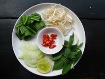 Plaque de potage asiatique - tentant ou pas ? Image libre de droits