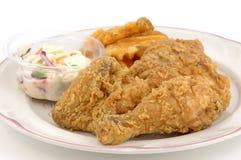 Plaque de poulet frit Photo libre de droits