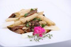 Plaque de repas dinant fin photo stock