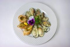 Plaque de repas dinant fin Image libre de droits
