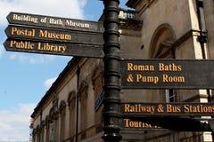 Plaque de rue à Bath Photo stock