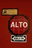 Plaque de rue à l'Antigua, Guatemala Photographie stock libre de droits