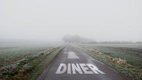 Plaque de rue à la manière de wagon-restaurant photo libre de droits