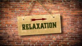 Plaque de rue à la relaxation photos stock
