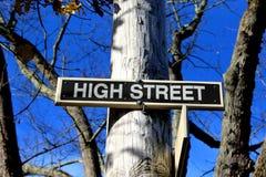 Plaque de rue élevée Photographie stock