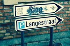 Plaque de rue Photos stock