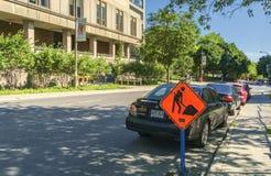 Plaque de rue (avenue de docteur Penfield) Image libre de droits