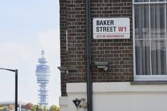 Plaque de rue de Baker Images libres de droits
