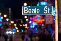 Plaque de rue de Beale photo stock