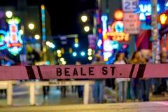 Plaque de rue de Beale image stock