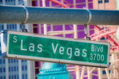Plaque de rue de Las Vegas Photographie stock