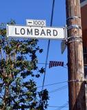 Plaque de rue de Lombard Photo stock