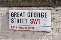 Plaque de rue de Londres Image libre de droits