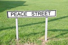 Plaque de rue de paix Image stock