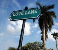 Plaque de rue de ruelle d'amour Photographie stock libre de droits