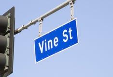 Plaque de rue de vigne à Los Angeles photos stock