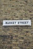 Plaque de rue du marché Image stock