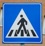 Plaque de rue piétonnière italienne de passage piéton Images libres de droits