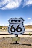 Plaque de rue de Route 66 en Williams, Arizona photographie stock libre de droits