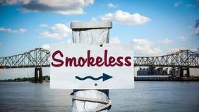 Plaque de rue ? sans fum?e photo stock