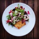 Plaque de salade Photographie stock