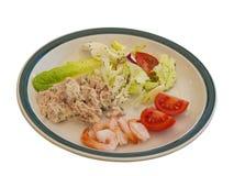 Plaque de salade d'été Photographie stock libre de droits