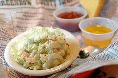 Plaque de salade de choux Photo stock