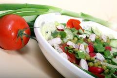 Plaque de salade fraîche Photo stock