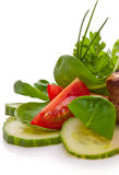 Plaque de salade fraîche Photographie stock