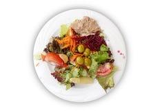 Plaque de salade mixte photos libres de droits
