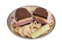 Plaque de sandwich Photos stock
