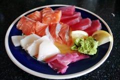 Plaque de sashimi Image stock