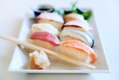 Plaque de sushi Images libres de droits