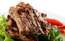 plaque de viande Images stock