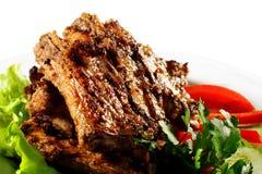plaque de viande Photos stock