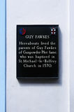 Plaque dedicated to parents of Guy Fawkes in York, England Royalty Free Stock Photography