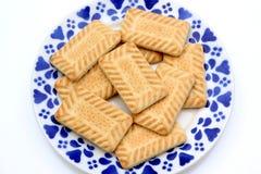 Plaque des biscuits photos libres de droits