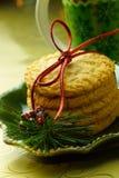 Plaque des biscuits de Chistmas images stock