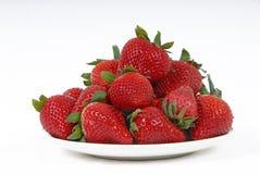 Plaque des fraises Photographie stock
