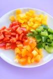 Plaque des poivrons Photographie stock