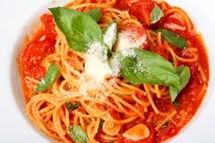 Plaque des spaghetti Photos stock