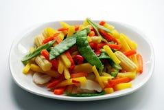 Plaque des veggies Image libre de droits