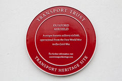 Plaque at Duxford Airfield Royalty Free Stock Photos