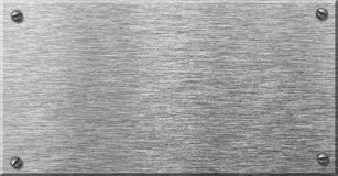Plaque en acier en métal avec des rivets Images stock