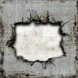 Plaque en acier endommagée Image libre de droits