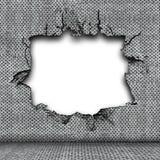 Plaque en acier endommagée illustration libre de droits
