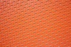Plaque en acier texturisée orange Photographie stock libre de droits
