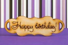 Plaque en bois avec l'inscription Photographie stock libre de droits